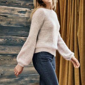 NWT Boden mohair blend blush peach knit sweater